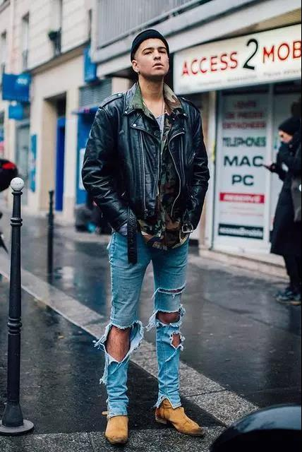 提升帅与时尚的造型魅力,混搭皮衣外套就可以!  秋11月 第6张