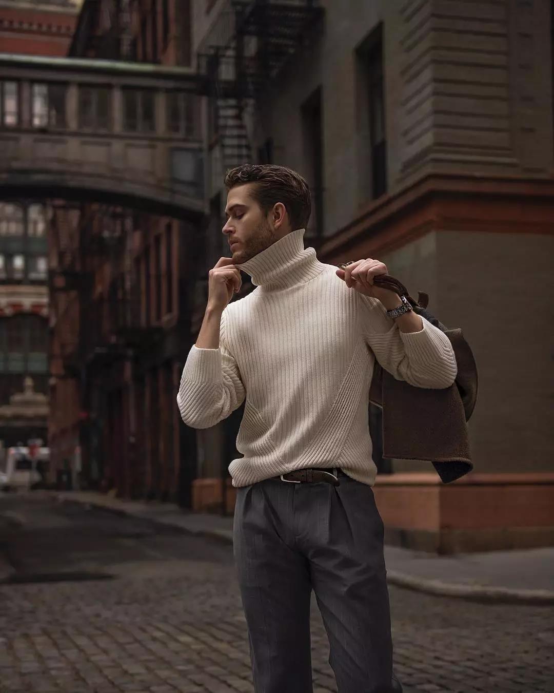 """高领毛衣的冬季,让你体会""""男人式""""的优雅  秋11月 第1张"""