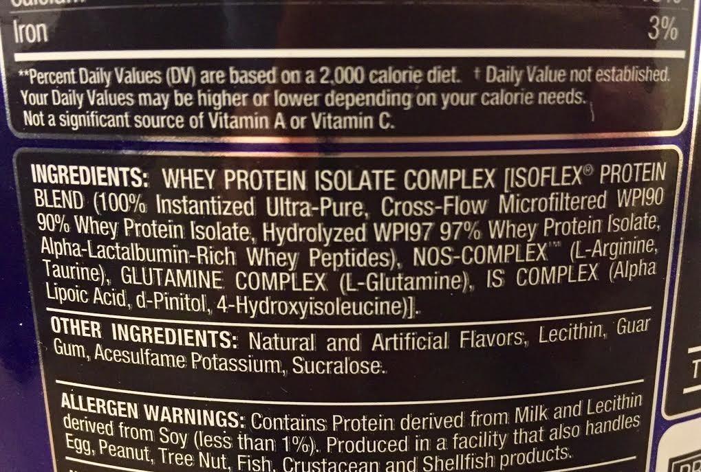运动补剂上的营养标签你真的看懂了吗?  夏7月 第8张