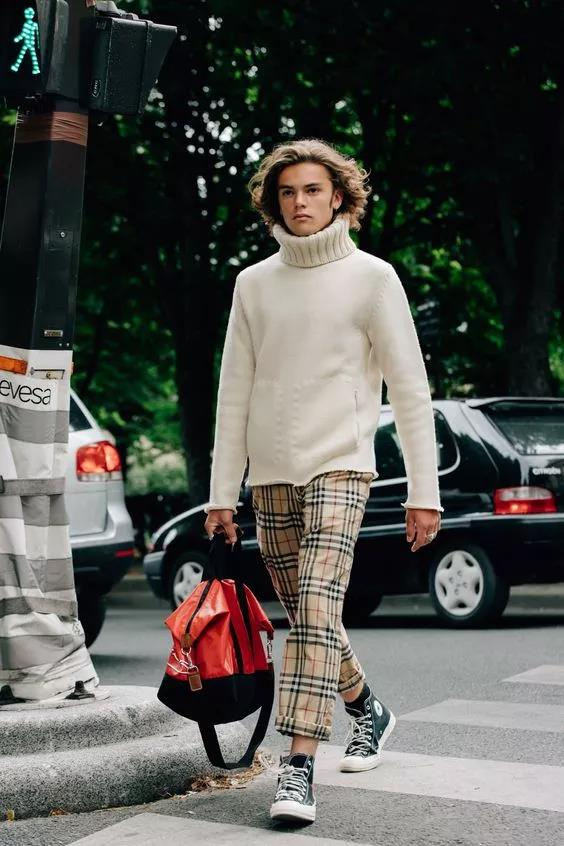 """高领毛衣的冬季,让你体会""""男人式""""的优雅  秋11月 第9张"""