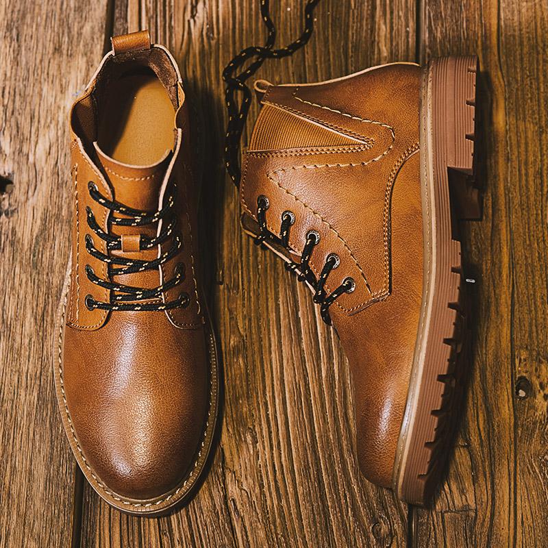还在用大衣配球鞋?型男们早就开始配短靴了  秋11月 第16张