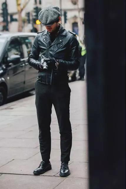 提升帅与时尚的造型魅力,混搭皮衣外套就可以!  秋11月 第3张