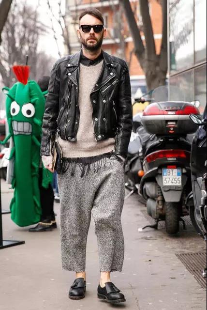 提升帅与时尚的造型魅力,混搭皮衣外套就可以!  秋11月 第9张