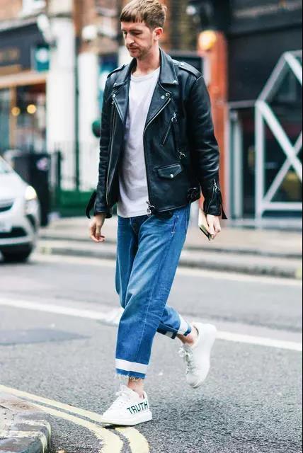 提升帅与时尚的造型魅力,混搭皮衣外套就可以!  秋11月 第4张