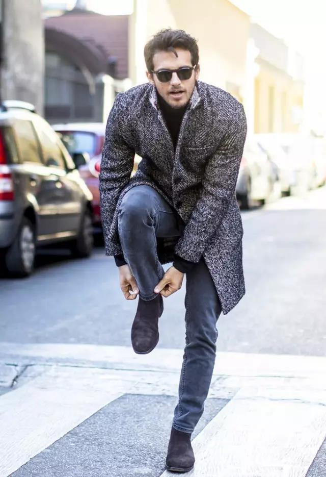 还在用大衣配球鞋?型男们早就开始配短靴了  秋11月 第11张